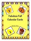 Fabulous Fall Calendar Numbers