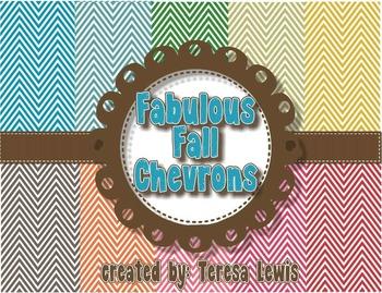 Fabulous Fall Chevron Paper