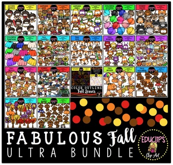 Fabulous Fall Clip Art Ultra Bundle {Educlips Clipart}