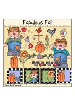 Fabulous Fall Clipart Collection~ Scarecrow Clipart