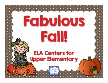 Fabulous Fall ELA Centers