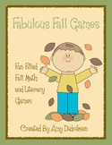 Fabulous Fall Games: Fun-filled Math and Literacy Games