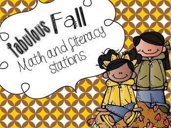 Fabulous Fall! Math and Literacy Common Core Stations