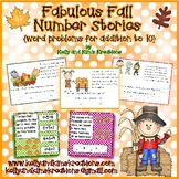 Fabulous Fall Number Stories {word problems for addition to 10}
