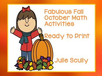 Fabulous Fall October Math Activities  Ready to Print