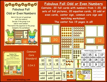 Fabulous Fall Odd or Even Numbers (2.OA.3)