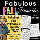 Fabulous Fall Printables ~ Math and ELA printables