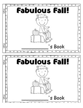 Fabulous Fall ~ Reproducible Book