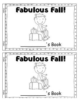 Fabulous Fall ~ Reproducible Book
