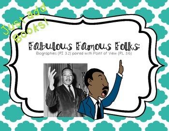 Biographies & Fiction Point of View: Fabulous Famous Folks Project