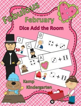 Fabulous February Dice Add the Room (Sums to 10)