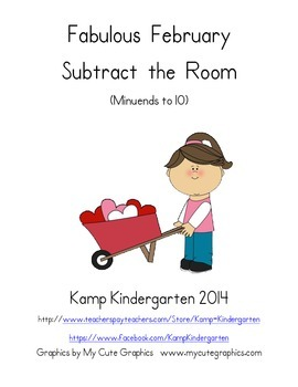 Fabulous February Subtract the Room (Minuends to 10)