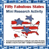 50 States Informational Reading Research Activity Common Core