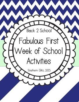 Fabulous First Week of School Activities