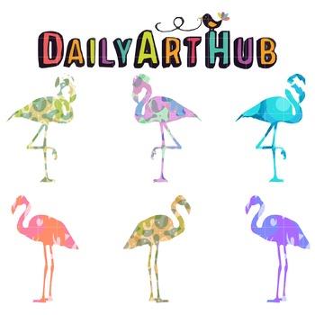 Fabulous Flamingo Clip Art - Great for Art Class Projects!