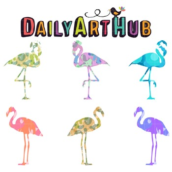 Fabulous Flamingo Clip Art - Great for Art Class Projects!
