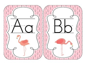 Fabulous Flamingos Alphabet Cards