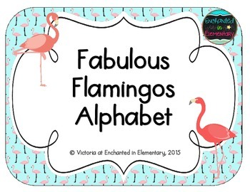 Fabulous Flamingos Alphabet Cards