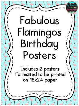Fabulous Flamingos Birthday Posters