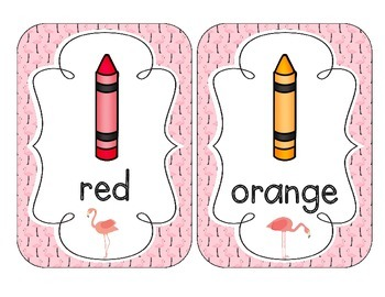 Fabulous Flamingos Color Cards