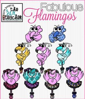 Fabulous Flamingos Digital Graphics/ Clip Art