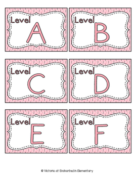 Fabulous Flamingos Leveled Reader Labels