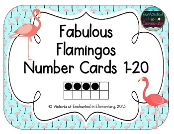 Fabulous Flamingos Number Cards 1-20