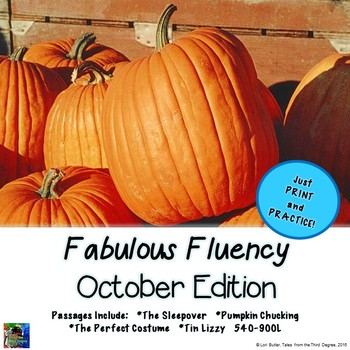 Fabulous Fluency Third Grade October Edition