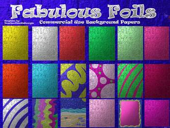 Fabulous Foils Background Bundle-19 Backgrounds-Commercial Use