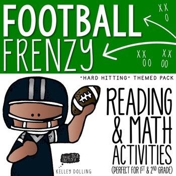 Football Math + Reading Activities by Kelley Dolling ...