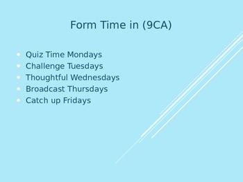 Fabulous Form Time/Registration Presentation Powerpoint