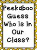 Fabulous Freebie :Peekaboo Class Book