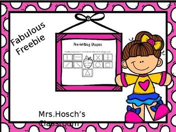 Fabulous Freebie :PreWriting Skill Cards