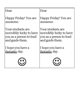 Fabulous Friday Kindness Notes