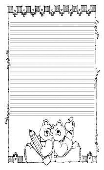 Fabulous Friendship Themed Writing Paper