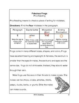Fabulous Frogs Original Activities and Standardized Test Practice