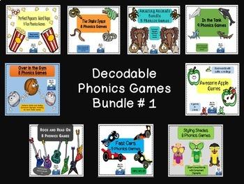 Decodable Phonics Games  # 1
