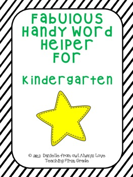 Fabulous Handy Word Helper for Kindergarten