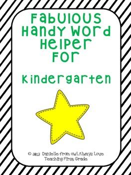 Fabulous Handy Word Helper for Kindergarten
