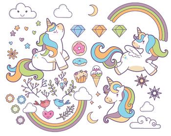 Fabulous Majestic Unicorn Clipart