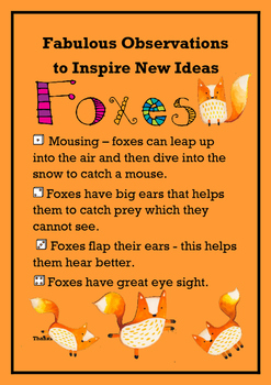 Fabulous Observations to New Ideas - Foxes