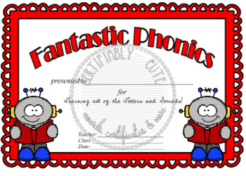 Fantastic Phonics Award