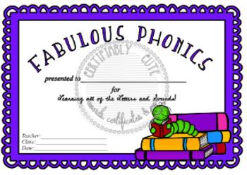 Fabulous Phonics Certificate