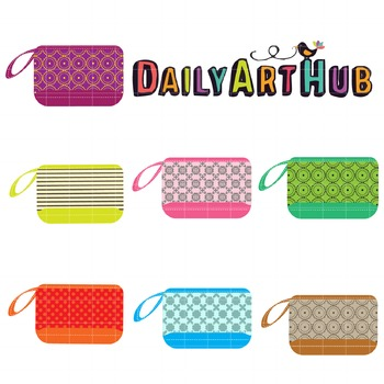 Fabulous Pouches Clip Art - Great for Art Class Projects!