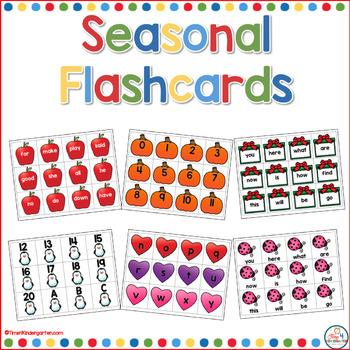 Fabulous Seasonal Flash Cards for the Year