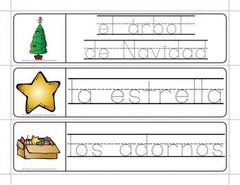 Fabulous Winter Holiday Freebie: Spanish Christmas Words Write & Wipe Freebie