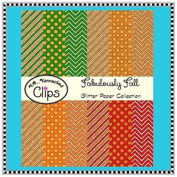 Fabulously Fall! Glitter Papers