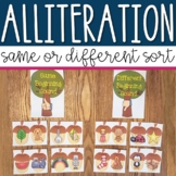 Alliteration Sorting Center Activity for Pre-k and Kindergarten