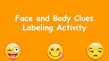 Face + Body Clues Zones of Regulation Companion