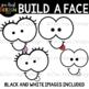 Face Clip Art-  Build-A-Face Clipart {jen hart Clip Art}